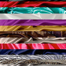 Satin Sheet Set QUEEN Size + Pillowcases Luxury Colours Silk Feel Black Red Gold