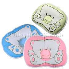 Baby Infant Bear Pillow Support Cotton Prevent Flat Head Sleeping Pad Cushion