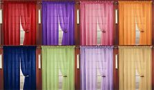8 PC SHEER VOILE WINDOW CURTAIN PANEL, 20 COLORS, GREAT QUALITY SHEER CURTAIN