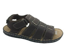 Mens Shoes Sandals Brown Grosby Jackson Velcro Adjustable Size 7-12 new