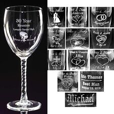 Personalized 10.5 oz Wine Glasses Custom Wedding Party Gifts Bridal Shower Gift