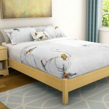 Natural Maple Finish Platform Bed Frame - in Twin Full or Queen