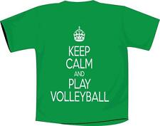 Keep Calm And Play Volleyball T Shirt Kelly