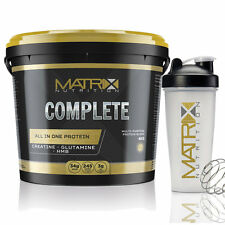 COMPLETE ALL IN ONE PROTEIN - CREATINE ALL FALVOURS 2.25KG-4KG MATRIX NUTRITION