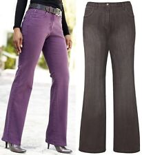 "BNWT 36"" INCH EXTRA LONG LEG BOOTCUT JEANS FOR TALL WOMEN PURPLE BROWN GREY"