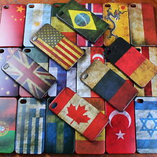 Classical Retro Multi National Flag Hard Case Back Cover For Apple iPhone 4 4S