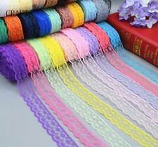 Beautiful! 20/50/100 yards embroidery lace ribbon colors can be selected