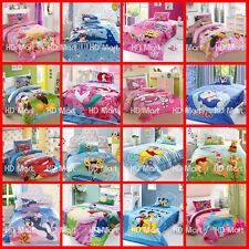 New Kids Single/Twin Bed Quilt Cover 3Pcs Cotton Set Cartoon Bedding collection