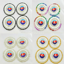 160 Dressmaker Craft Sewing Pins on 4 Pin Wheels - Choice of Colours