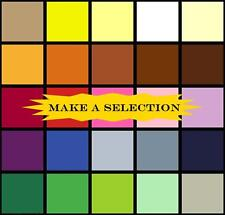 """25 COLORS (60X60 YARN COUNT) 100% COTTON SOLID COLORED FABRICS  FQ 18"""" X 22"""""""