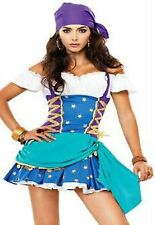 Sexy Gypsy Fortune Teller Pirate esmeralda disney Fancy Dress Costume Size 8 -16