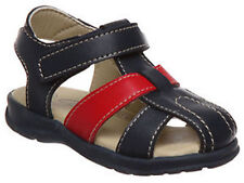 Boys Shoes Grosby Luke Navy/Red Leather Upper  Sandals Size 4-12 New