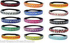 Softball Headbands U PICK COLOR or Yellow Leather Seam Sport Team WHOLESALE lot