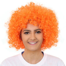 ADULTS ORANGE AFRO WIG 60'S 70'S DISCO HIPPY FANCY DRESS STAG PARTY CLOWN HAIR