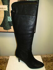 """Calvin Klein """"Jonie"""" Knee High Boots Black Leather New with Box"""