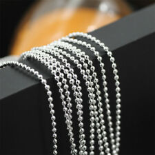 Wholesale lots 10pcs Dia.1-2mm Ball Bead Silver Necklace Chain Lobster Clasper