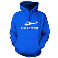 Get To Da Chopper - Unisex Hoodie - 9 Colours - Funny - Helicopter - Meme-Gift