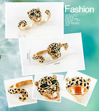 Leopard 18K GP Ring Use Swarovski Crystal RP9575 Free Gift Pouch