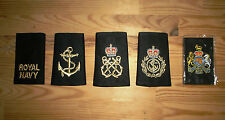 Insignia, Shoulder Slide. Ratings. Royal Navy. Gold/Black. AR,LR,PO,CPO,WO1 & 2