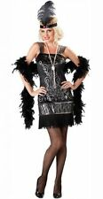 ADULT LADIES FLIRTY FLAPPER 1920s FANCY DRESS COSTUME 20s CHARLESTON OUTFIT