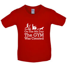 On The 8th Day Gymnastics Was Created - Kids / Childrens T-Shirt - Gym