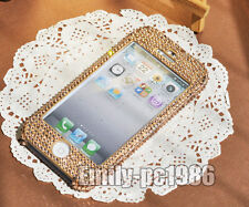 Handmade Front-Back Swarovski Element Crystal Case For iPhone 5 5s 4S Champagne