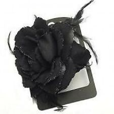 Rose and feather decorative hair accessory