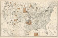 1888 UNITED STATES INDIAN RESERVATION BIA MAP Largest Sizes