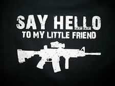 Gun Right Long Sleeve Shirt Say Hello To My Little Friend AR 15 Rifle 2nd Weapon