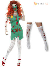 Sexy Halloween Zombie Nurse Costume Womens Fancy Dress Uniform NHS Adult Outfit