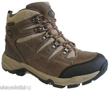 Mens lightweight leather and nylon waterproof walking hiking trekking boots