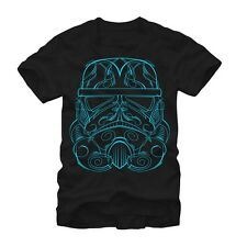 Star Wars Stormtrooper Blue Mask Adult T-shirt