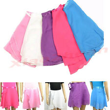 New Children Kids Girl Chiffon Ballet Tutu Dance Skirt Skate Wrap Scarf 5 colors