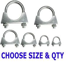 Universal Exhaust clamps, Auto U Bolt - aerial clamps BZP hose clamps 29-102mm