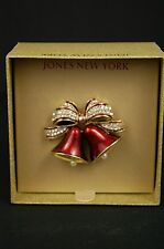 Jones New York Christmas Bow/Penguin/Nutcracker/Wreath/Poinsettia Pin Pick One