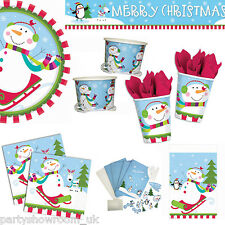 Christmas Cheer Happy Snowman Party Tableware Decorations One Listing PS