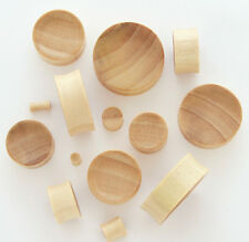 PAIR Concave Crocodile Wood Plugs - select size from 8g all the way up to 30mm