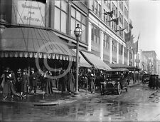 1914 STREET SCENE 11TH & F ST WOODWARD & LOTHROP PHOTO WASHINGTON DC