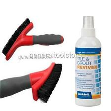 TILE AND GROUT REVIVER CLEANING SET + GROUT BRUSH - DISCOLOURED GROUT TILES BB19
