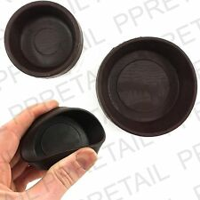 4 x RUBBER CASTOR CUPS   SMALL Or LARGE   Brown Chair/Sofa Floor Protector Grip