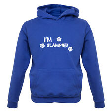 I'm Glamping - Kids / Childrens Hoodie - Camping - Funny - Glamorous - 7 Colours