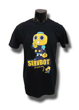Mega Man Legends Servbot At Your Service Mens Black T-Shirt