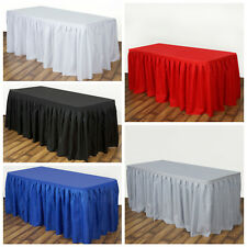 """21 feet x 29"""" Polyester Banquet Table Skirt Wedding Party Linens"""