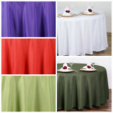 """10 pc 108"""" Round Polyester Tablecloth Tabletop Wedding Wholesale Decorations"""