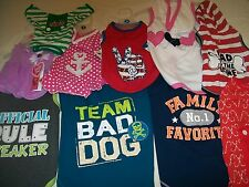 NEW~DOG~CLOTHES~CHRISTMAS~DRESS~XS S M L~WAG A TUDE~PUP CREW~CANDY CANE~FAMILY