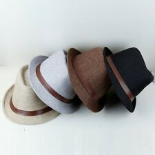 New Fashion Beach Fedora Trilby Gangster Straw Panama Jazz Hat Cap Men & Women