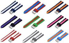 20mm PREMIUM SILICONE STRIPED Replacement Watch Strap Band FITS TIMEX WEEKENDER
