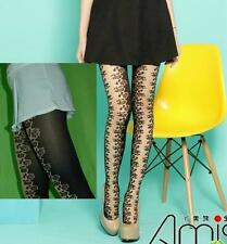 Spandex Vintage Mesh Floral Rose Lace Fishnet Pantyhose Tights Stockings Slim
