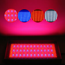711 LED Tri-Band Blue Red White Hydroponic Grow Light Panel +AC Adaptor 30W 110V
