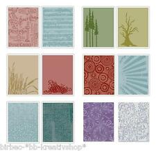 2 Prägeschablone SIZZIX Embossing Folder TIM HOLTZ Big Shot MUSTER 53